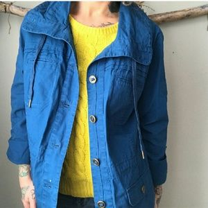 Coldwater Creek Blue Utility Jacket